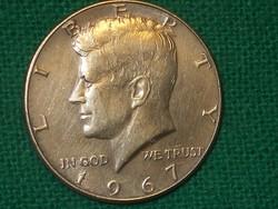 Kennedy - Ezüst  - Fél Dollár - HALF Dollár   1967 !