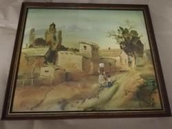 Ismeretlen kortárs festő - szignózott műve