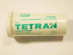 Retro Tetran sebhintőpor hintőpor doboz - Chinoin gyártó - 1976-os évből