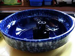 Iparművész kerámia ikebana nagy tál
