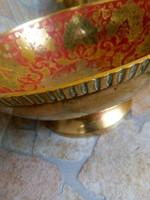 Színes réz asztalközép/kínáló
