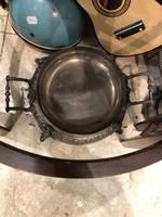 Szecessziós kináló, asztalközép, alpakka, nagyméretű, 40 cm-es,gyönyörű