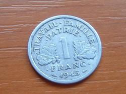 FRANCIA 1 FRANC FRANK 1943 VICHY ALU