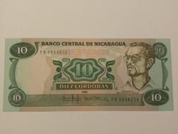 Nicaragua 10 Cordobas UNC 1985