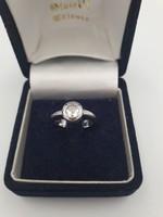 1 karátos gyémánt gyűrű 18 karátos fehérarany foglalatban
