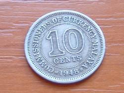 MALAYA 10 CENT 1948