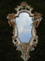 Modern antikolt 2 angyalkás luxus  florentin tükör