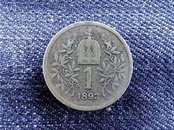 Ausztria Osztrák-Magyar .835 ezüst 1 Korona 1893 / id 9155/