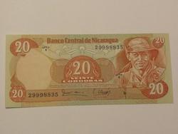 Nicaragua 20 Cordobas 1979 UNC
