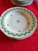 2 db Óherendi porcelán lapos és mély tányér egyött sérült