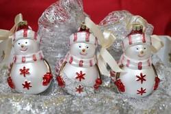 Kézműves hóember  karácsonyfadísz