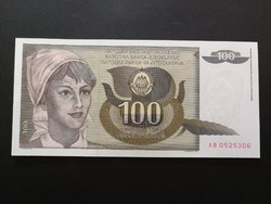 Jugoszlávia 100 Dinar UNC 1991