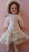 AM.DEp 1894-es porcelán fejű baba