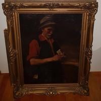Kukán Géza (1890-1936 ) olajfestménye 106x86 cm  Eredeti Garanciával