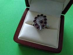 Almandin /gránát /köves ezüst gyűrű