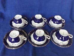 Zsolnay Pompadour teás készlet