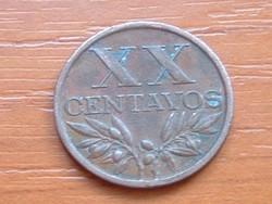 PORTUGÁLIA XX  20 CENTAVOS 1966