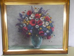 Festmény, virágcsendélet