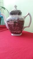 """Angol """"Posta Háza"""" csodaszép teás vagy kávés porcelán kiöntő."""