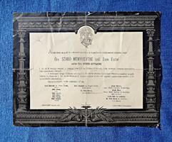 1899 Szunyog-major, Özv. Szabó Menyhértné gyászjelentés