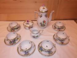 Herendi Viktória mintás porcelán teáskészlet, teás készlet