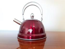 Teafőző vintage stílusú piros teakanna