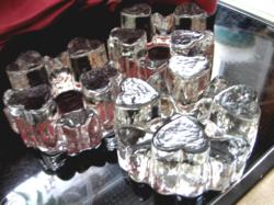 Szív alakú kristály mécsestartó, melegen tartó, teamelegítő, edényalátét, nehezék