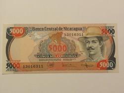 Nicaragua 5000 Cordobas UNC 1985
