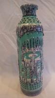 Zsűrizett retro iparművész kerámia váza 40 cm