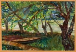 Szamosvári József akvarell