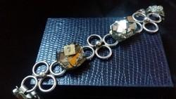 Arany Pirittel ezüst karkötő