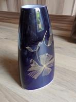 Valódi  Kobalt Weimari porcelan váza