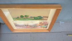 Hajdú (Béla?) Akvarell 2 db 1 keretben