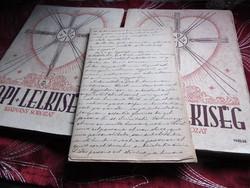 Papi Lelkiség 1. és 3. szám (1942/43) + antik irat 1843-ból