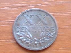 PORTUGÁLIA XX  20 CENTAVOS 1967