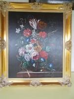 Festmény, virágok.