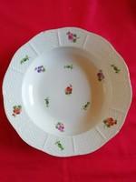 Gyönyörű Herendi porcelán leveses tányér / szélén lepattanás