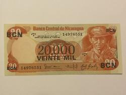 Nicaragua 20000 Cordobas felülnyomás 20 Cordobas-on UNC 1987