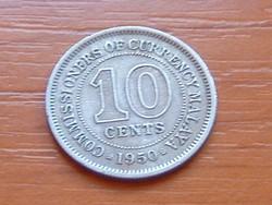 MALAYA 10 CENT 1950