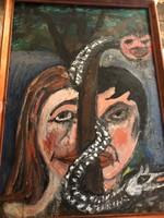 Naiv olaj Ádám és Éva