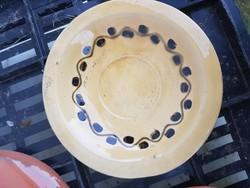 Kerámia tányér, kb.13 cm, jelzett, poros, de hibátlan