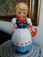 Nagyon ritka nagy méretű Goebel porcelán Piroska 1959-ből!
