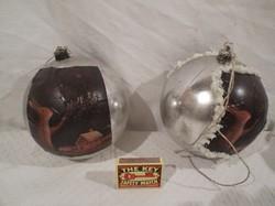 Karácsonyfadísz - NAGY - átmérő 14 cm - plasztik - áruházi - tovább díszíthető