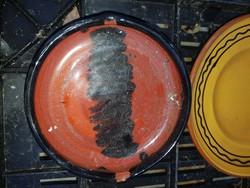 Kerámia hamutartó, kb.18 cm, jelzett/zsűrizett, poros, de hibátlan