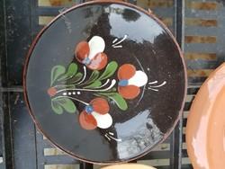Kerámia tányér, kb.15 cm, jelzett, poros, de hibátlan