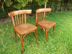 2 db egyforma teljesen stabil antik debreceni Thonet szék