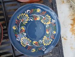 Kerámia tányér, kb.20 cm, jelzett, poros, de hibátlan