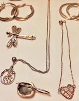 Ezüst 925-ös csomag ( nyaklánc, fülbevaló, karkötő stb..)