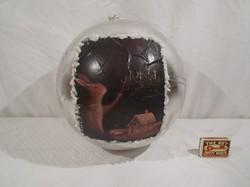 Karácsonyfadísz - ÓRIÁSI - NAGY LABDA MÉRET - 25 cm átmérő - plasztik - áruházi