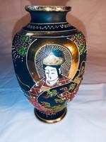 Eredeti Satsuma váza, ritka vastagon aranyozott, kihagyhatatlan ajándék